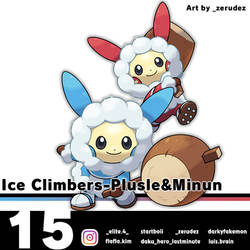 Ice Climbers-Plusle and Minun by zerudez