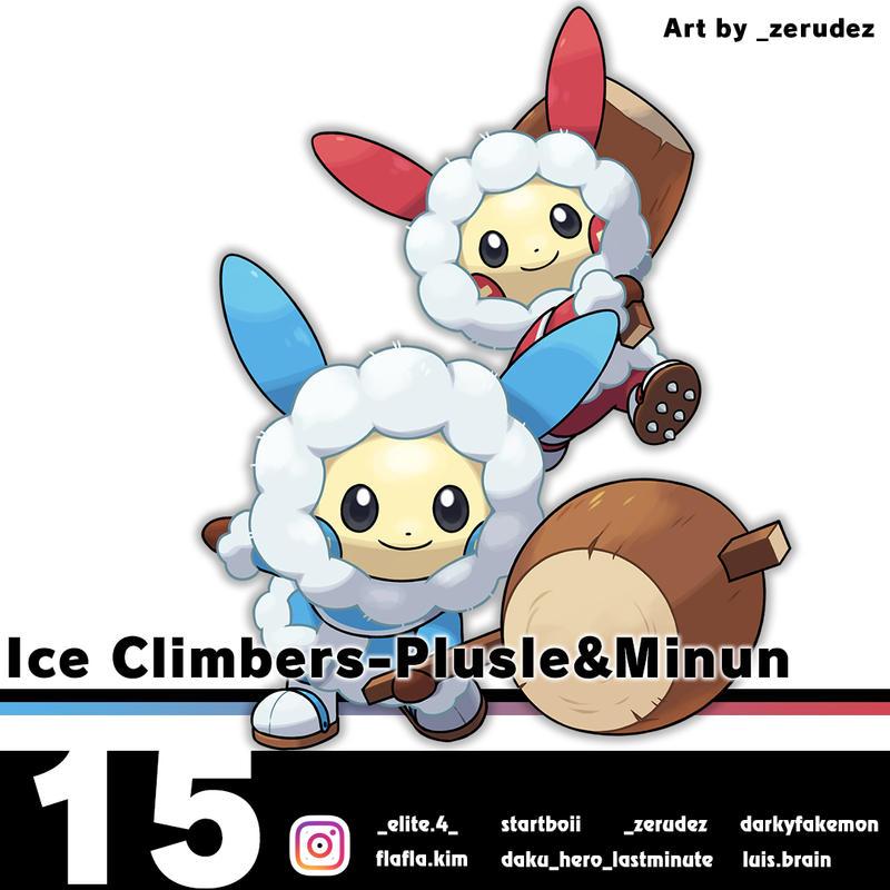 Ice Climbers-Plusle and Minun