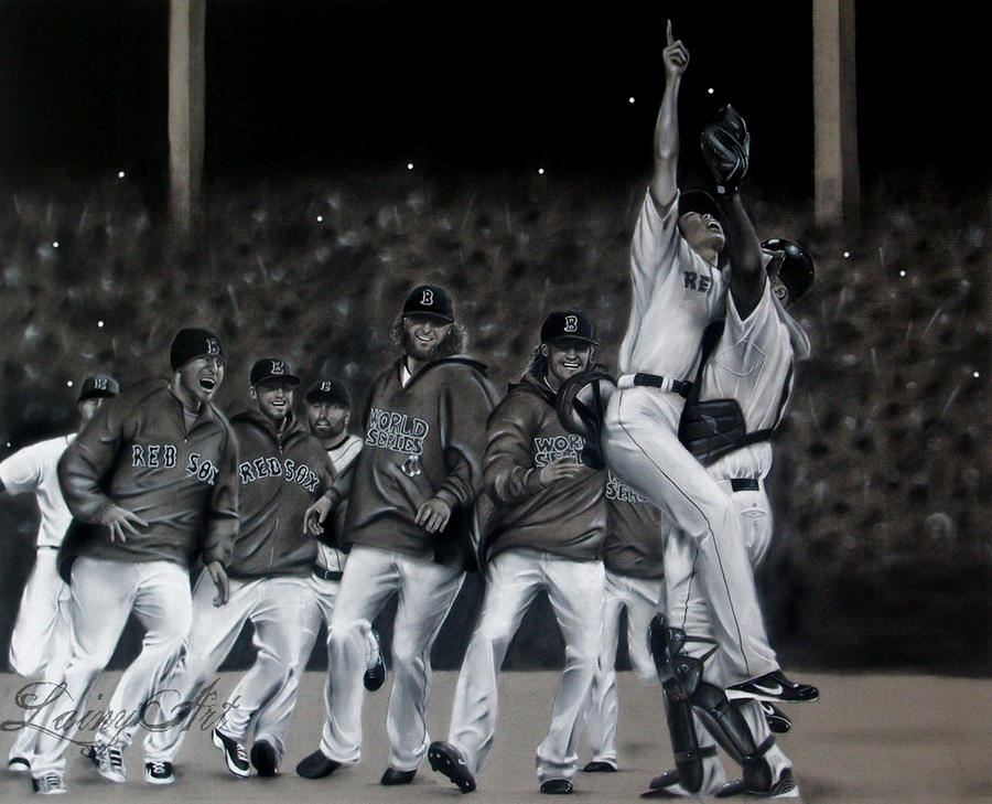 Red Sox World Series 2013 - Charcoal Commission by secrets-of-the-pen