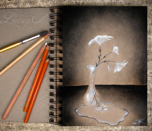 Sketch Journal - Broken Vase by secrets-of-the-pen