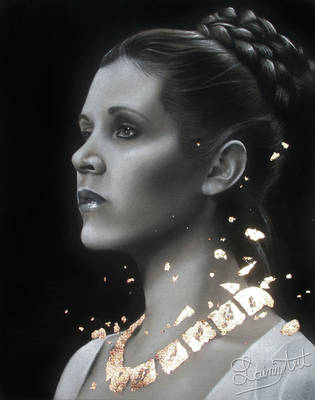 Carrie Fisher - Traditional Art Tribute by secrets-of-the-pen