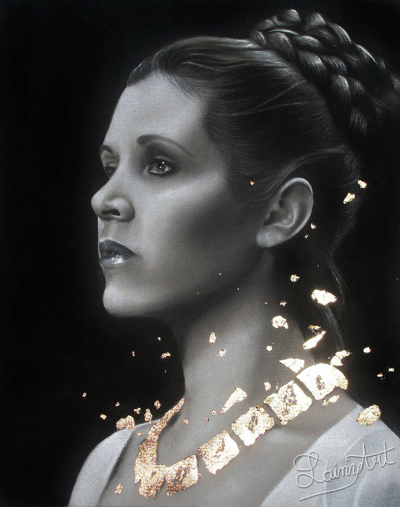 Carrie Fisher - Traditional Art Tribute