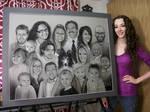 Shyla's Super Family Portrait- Charcoal Commission
