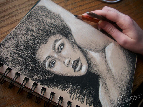 15 minute scribble portrait by secrets-of-the-pen