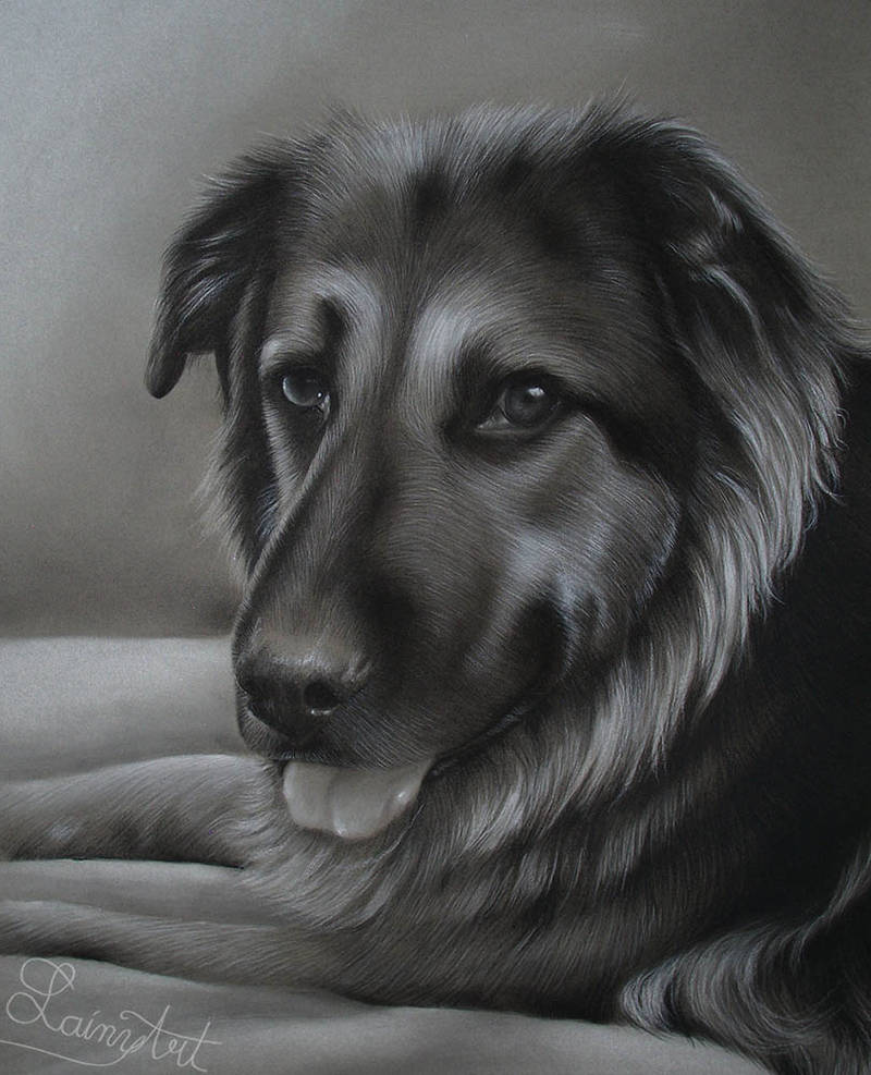 Rigsby's Smile - Charcoal Commission by secrets-of-the-pen