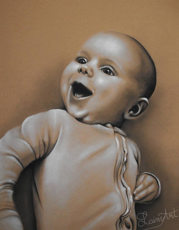 Little Ada - Sepia Charcoal Portrait by secrets-of-the-pen