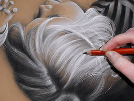 One Hair at a Time - Charcoal WIP