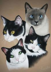 Jaye's Quartet - Pastel Commission