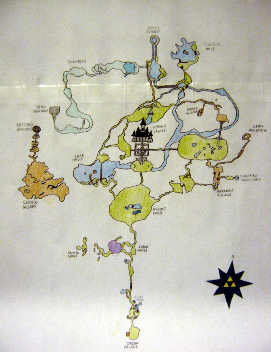 Zelda world Map by YoshisGhost on DeviantArt