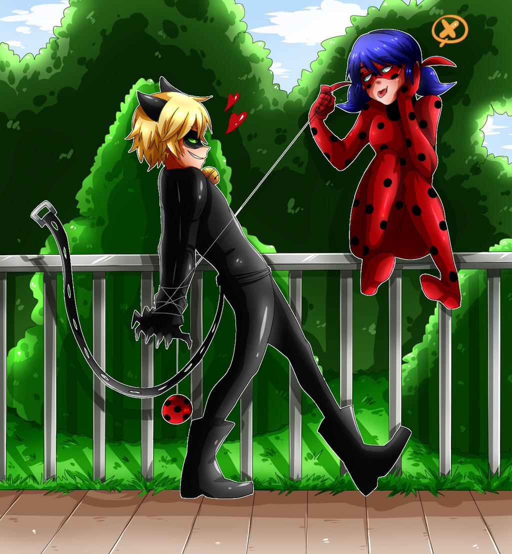 Ladybug and Cat Noir by cjwolf207 on DeviantArt