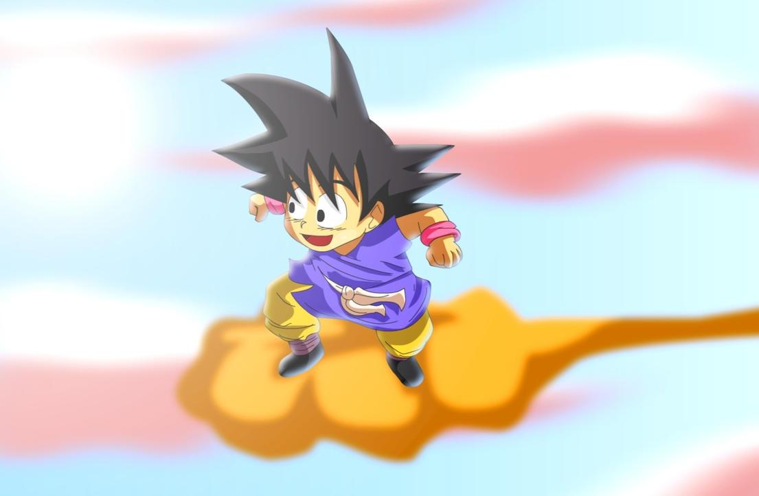 kid goku on flying - photo #13