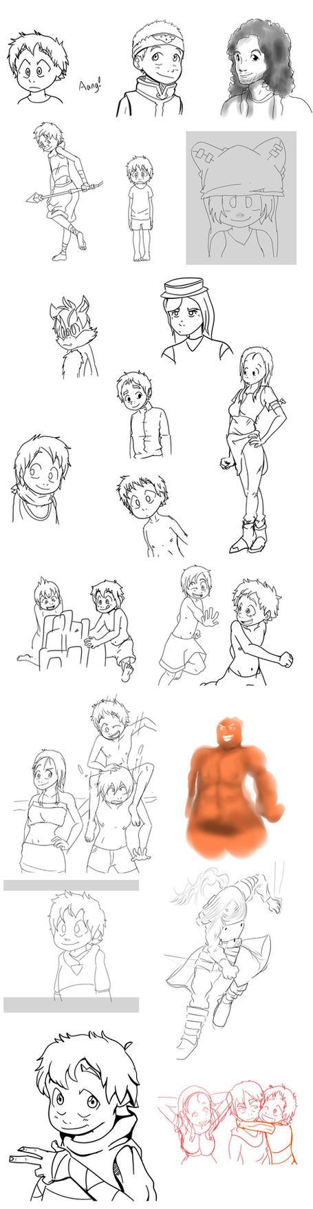 Sketch Dump 21! ULTRA Dump! by Parimak