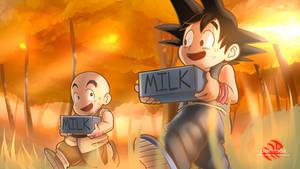 Goku and Krillin in training!