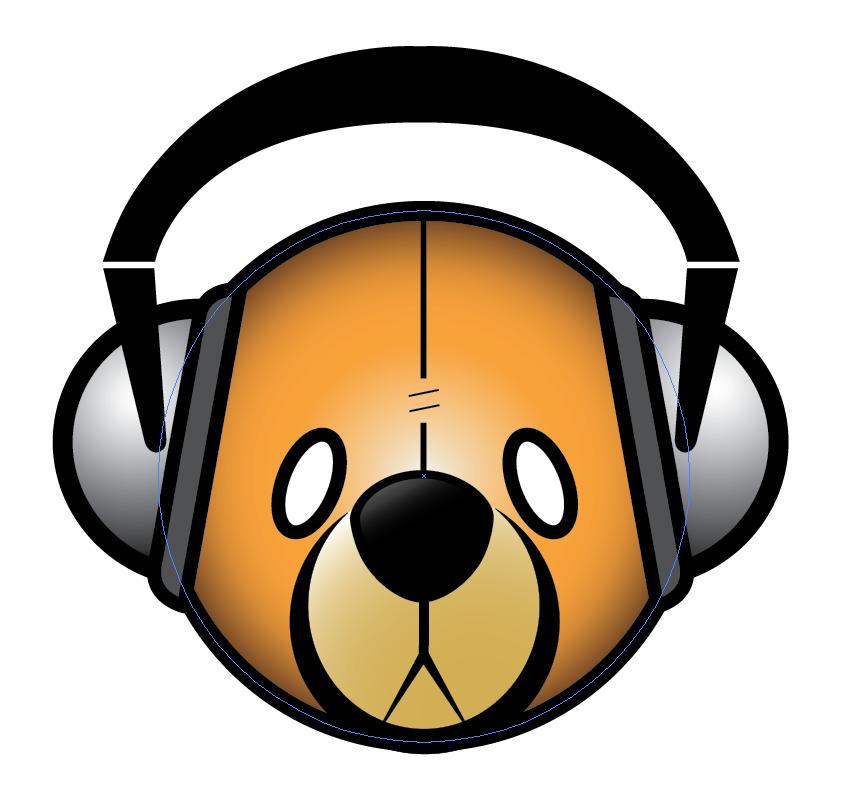Bear with headphones logo by timmcfarlin on DeviantArt
