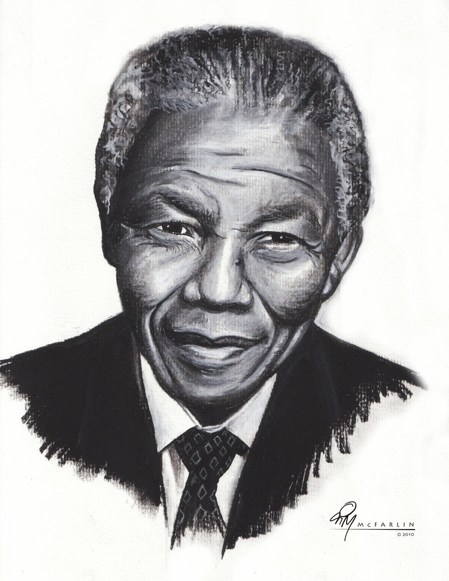 Nelson Mandela portrait by ~timmcfarlin on deviantART
