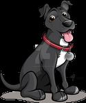 Staffy Labrador X Caricature