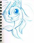 Fish Wizard Logo Sketch