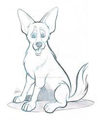 German Shepherd X Caricature Sketch
