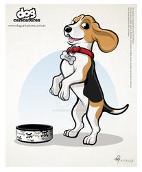 Beagle Dog Caricature