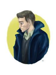 Man in coat by imatangelo