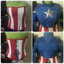 Commissioned Captain America Jacket and Corset