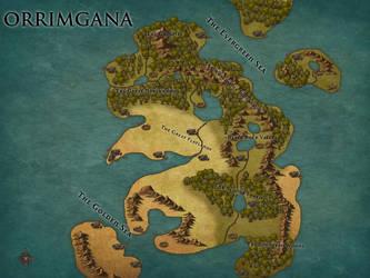 Map of Orrimgana by BobtheSkull666