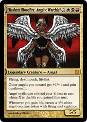 Elizabeth Bloodfire Angelic Warchief by BobtheSkull666