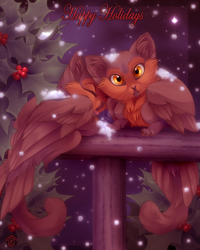 feathers and holly by evana