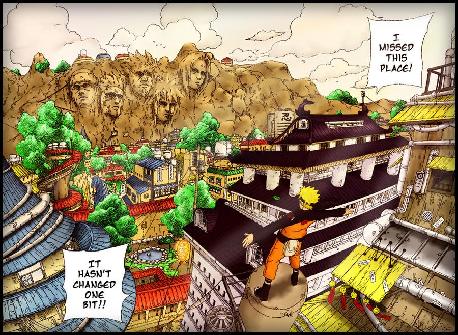 Naruto back in Konoha by Utakata-Rokubi