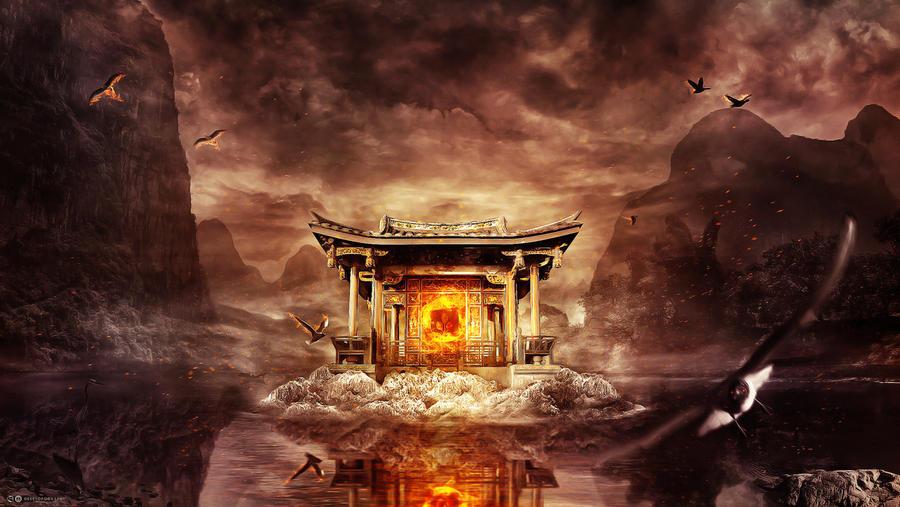Birth of Zhu Rong - Desktopography 2011 by billelis