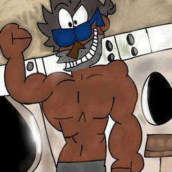 MY HOT BOD IS FOR THE LADIES IN THE LAUNDRY MAT~ by ArtistDominic