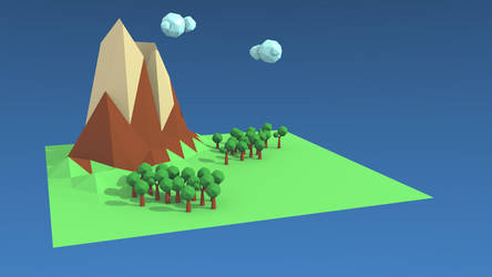 low poly landscape by lazycymbals