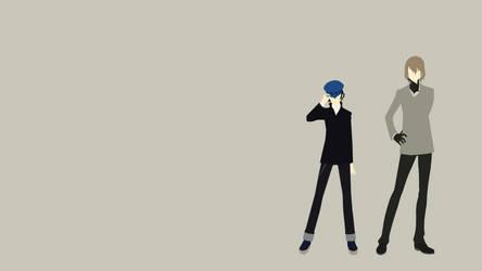 Minimalist Naoto Shirogane and Goro Akechi by lazycymbals