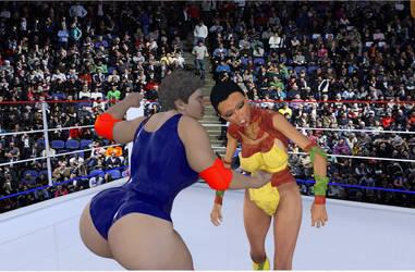 Cleo  Khan VS Alecia Gonzalez2 by pinnedagain