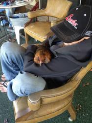 Cuddling with Ruckus by ShortyTheDireWolf