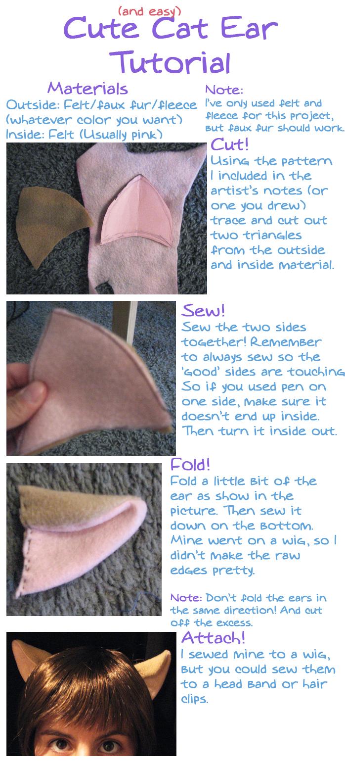 Cat Ear Tutorial by ObsessedXShipper
