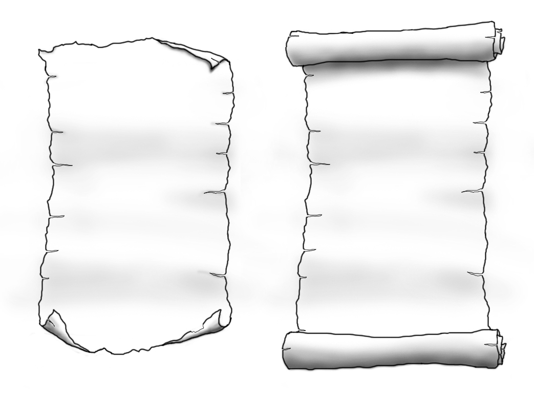 Drawings of scrolls music search engine at for Scroll drawing template