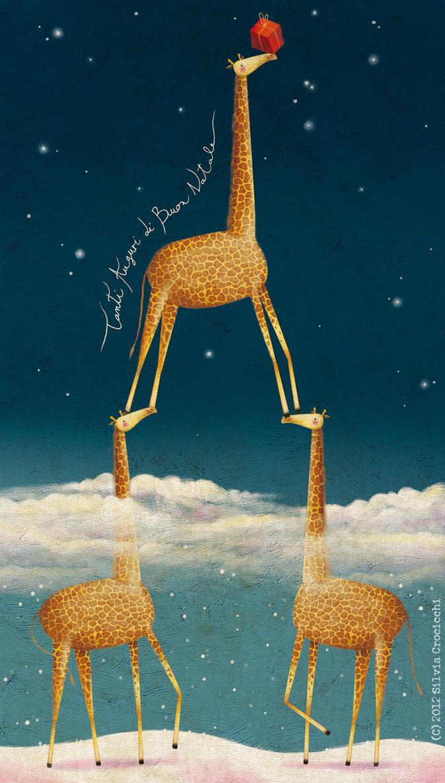 Christmas Giraffes by XSilviettaX