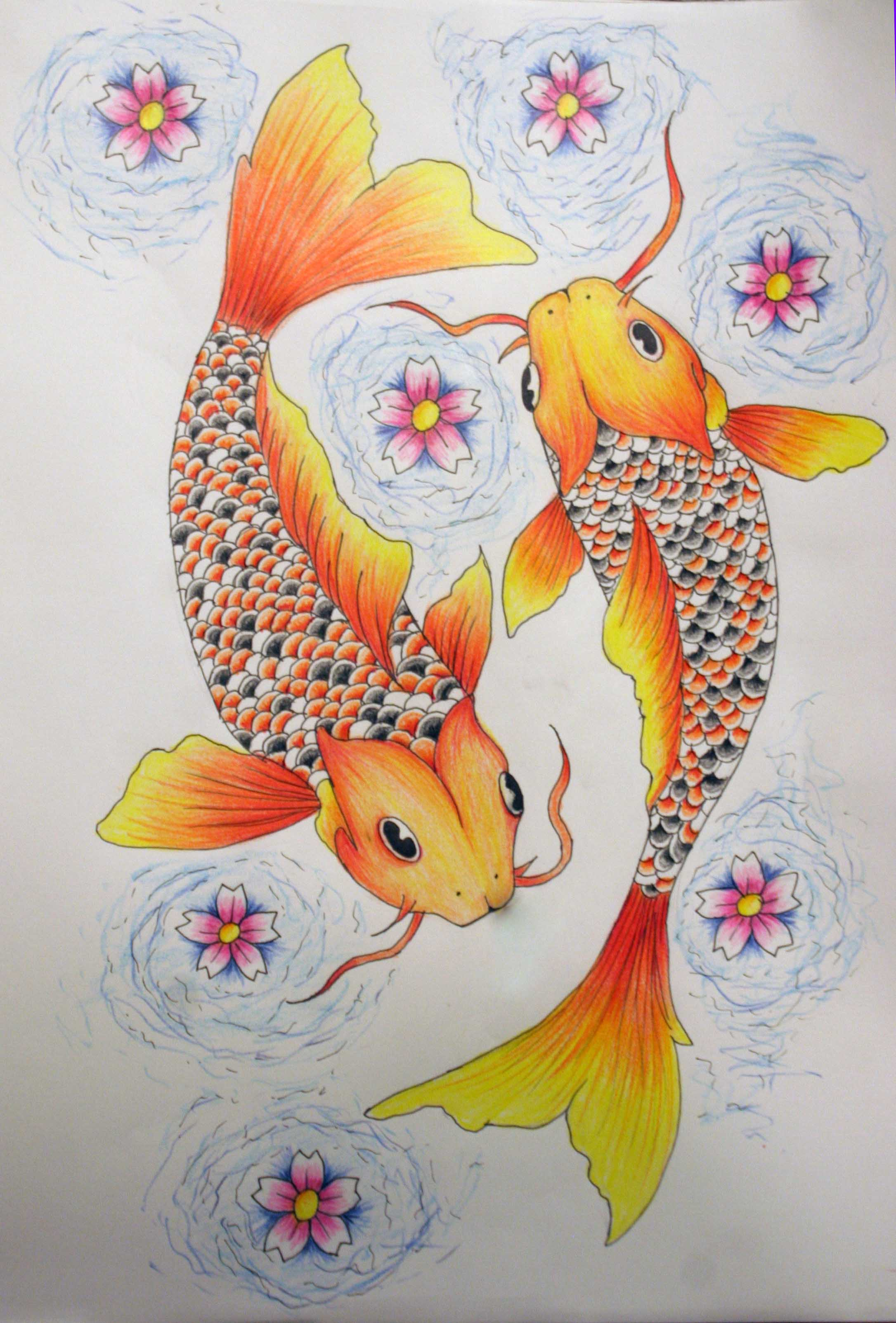 Pisces tattoo color by kelseysparrow67 on deviantart for Koi fish pisces
