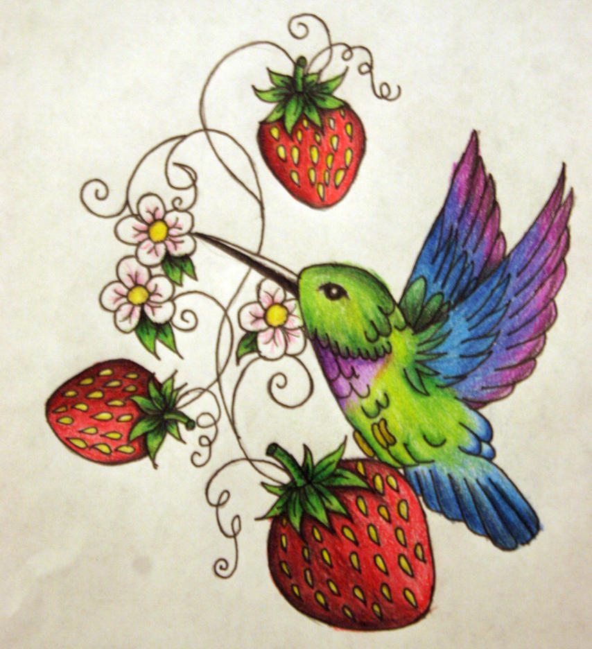 strawberry hummingbird color by kelseysparrow67 on deviantart. Black Bedroom Furniture Sets. Home Design Ideas