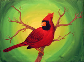 Cardinal Painting by KelseySparrow67