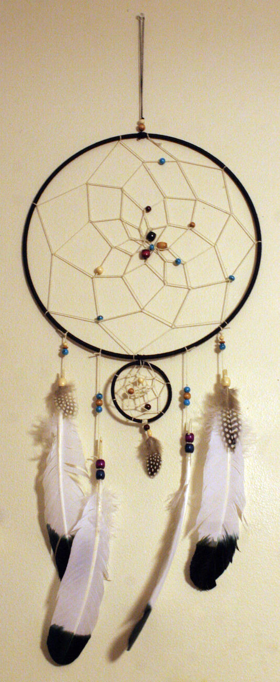 Handmade Dreamcatcher with Eagle feathers by KelseySparrow67