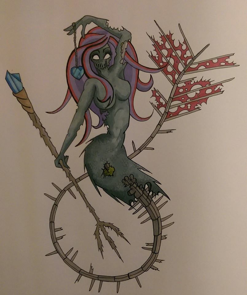 Mermaid Undead by Artistic-Kindness
