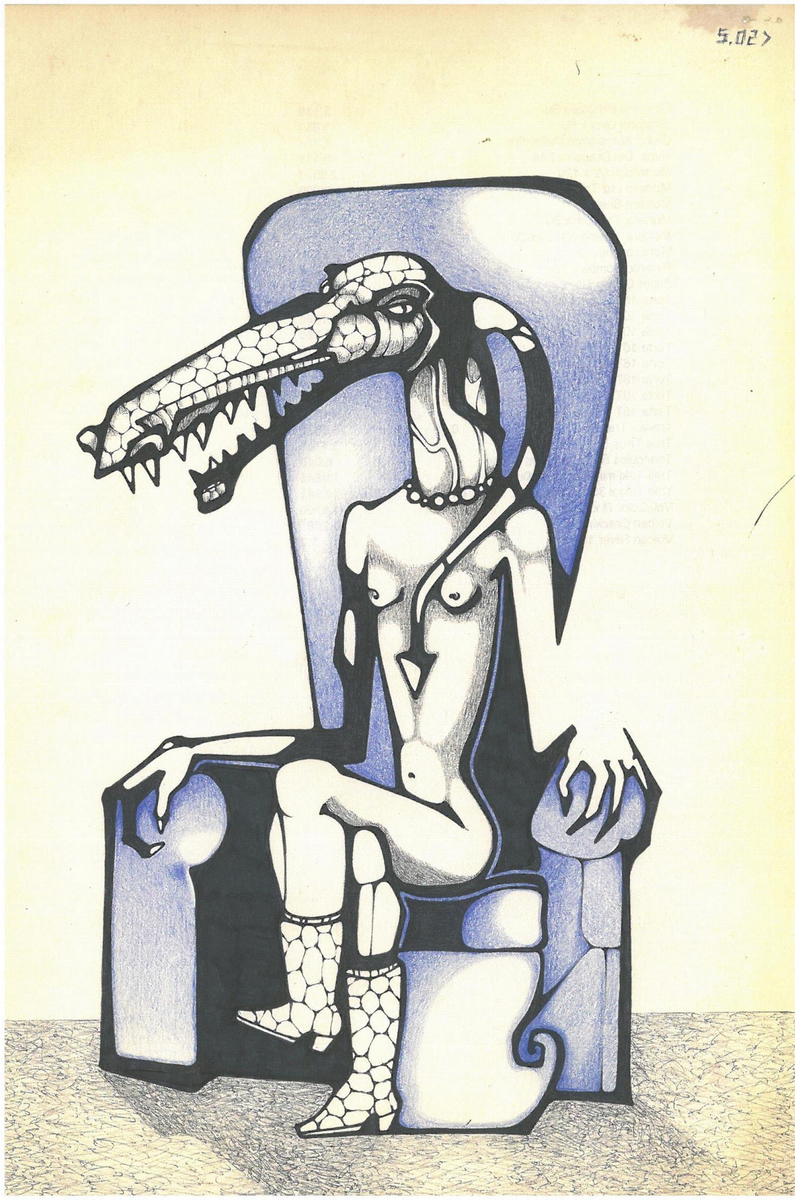 crocodile woman by solecancinos
