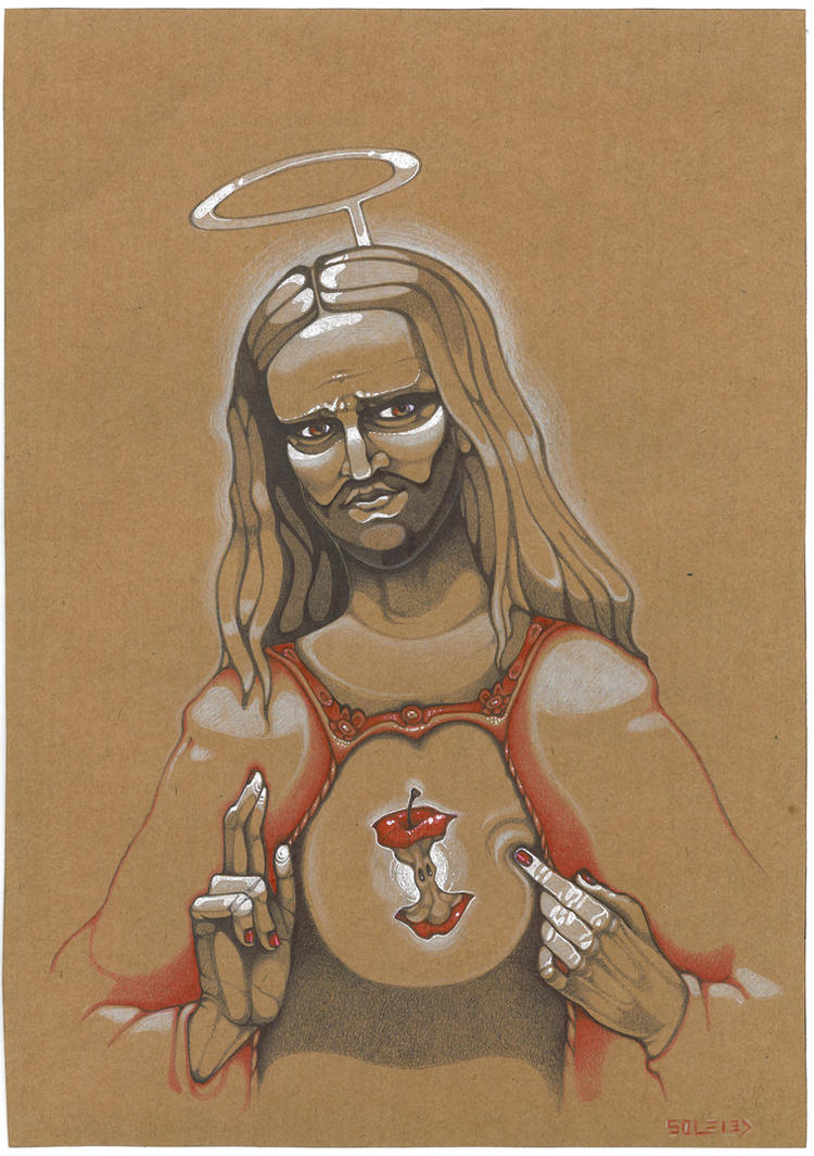 sacred heart of apple by solecancinos