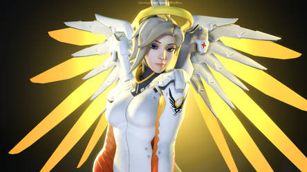Angelic Mercy - Overwatch by WoRss