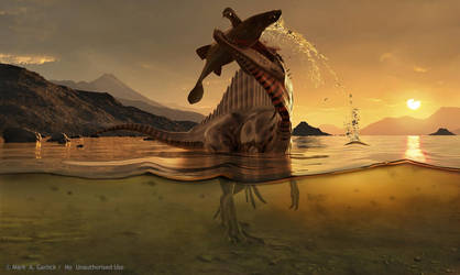 Spinosaurus With Prey - V1