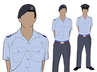Air Cadet Male Adult SNCO No2 shirtsleeve Uniform by aircadetresource
