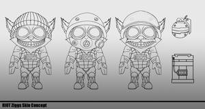 Riot Ziggs Concept Art - Line Drawing by YutoIsoya
