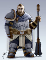 Oldrick Baelbane the Dwarven Conquest Paladin by YutoIsoya